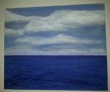 Douglas Chadiz - Nubes y Mar Acrylic on Canvas
